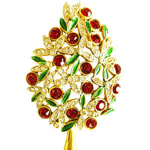 Red Green White Gold Sphinx England Xmas tree Pin